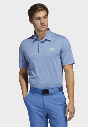 ULTIMATE365 HEATHERED STRIPE POLO SHIRT - Koszulka polo - blue