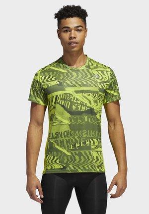 OWN THE RUN GRAPHIC T-SHIRT - Print T-shirt - green