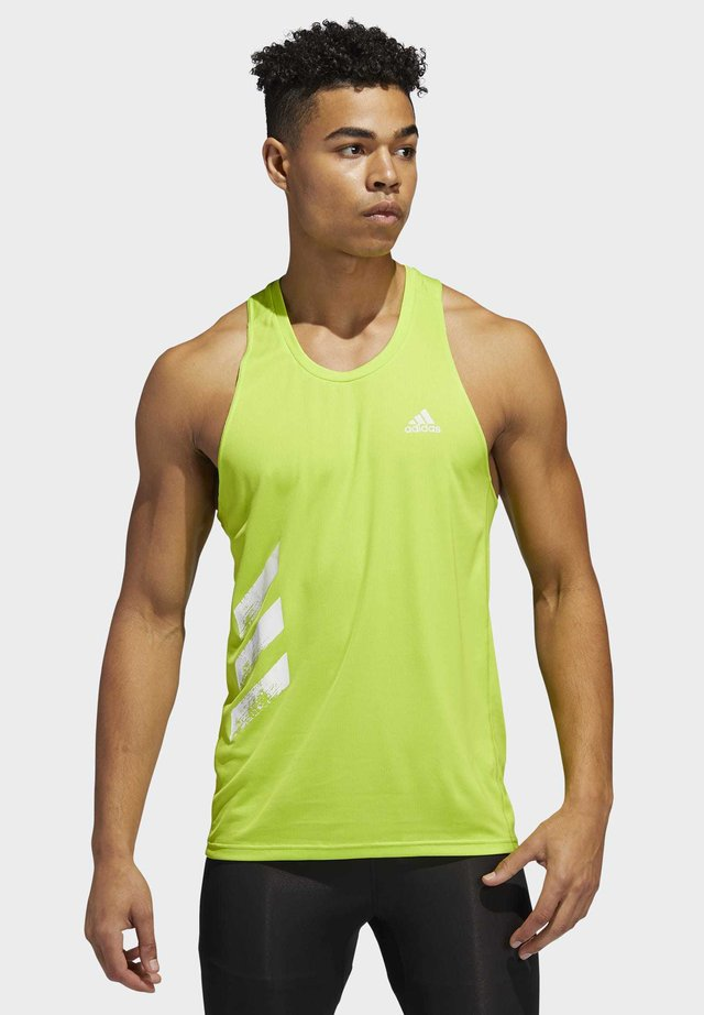 OWN THE RUN 3-STRIPES PB SINGLET - Top - green