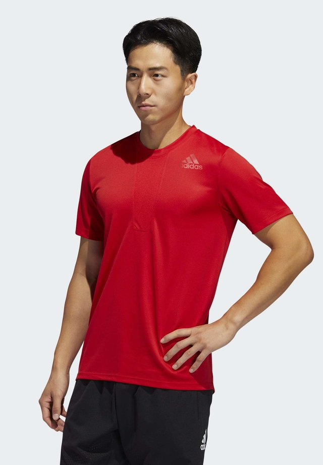 HEAT.RDY 3-STRIPES T-SHIRT - T-shirt con stampa - red