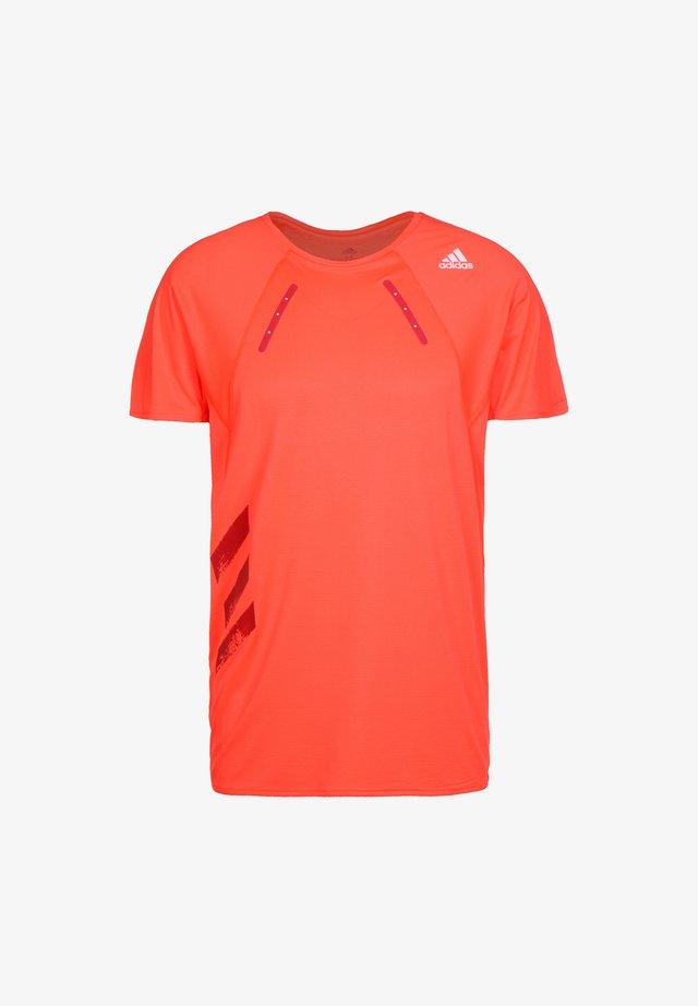 ADIDAS PERFORMANCE HEAT.RDY LAUFSHIRT HERREN - T-shirt con stampa - solar red