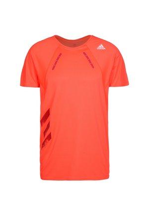 ADIDAS PERFORMANCE HEAT.RDY LAUFSHIRT HERREN - Print T-shirt - solar red