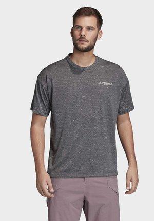 TERREX HIKE T-SHIRT - T-shirt z nadrukiem - grey