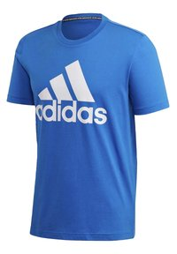 adidas Performance - MUST HAVES BADGE OF SPORT T-SHIRT - T-shirts med print - blue - 9