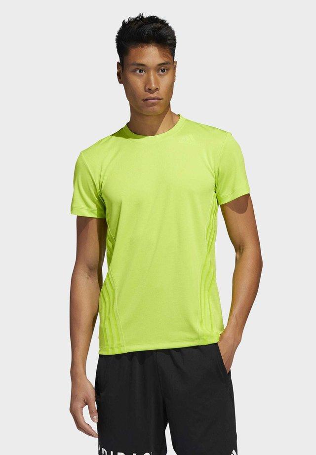 AEROREADY 3-STRIPES T-SHIRT - T-Shirt basic - green
