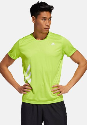 "ADIDAS PERFORMANCE HERREN LAUFSHIRT ""RUN IT TEE  PB 3S"" - Sports shirt - limette (404)"