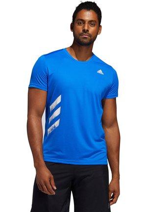 "ADIDAS PERFORMANCE HERREN LAUFSHIRT ""RUN LIT TEE PB"" - T-Shirt print - blau (296)"