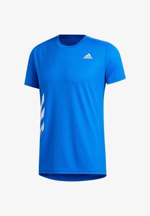 "ADIDAS PERFORMANCE HERREN LAUFSHIRT ""RUN LIT TEE PB"" - Print T-shirt - blau (296)"