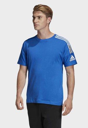 ADIDAS Z.N.E. 3-STRIPES T-SHIRT - T-shirts med print - blue
