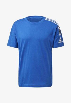 ADIDAS Z.N.E. 3-STRIPES T-SHIRT - Printtipaita - blue