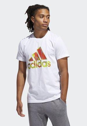 SUMMER BADGE OF SPORT T-SHIRT - T-Shirt print - white