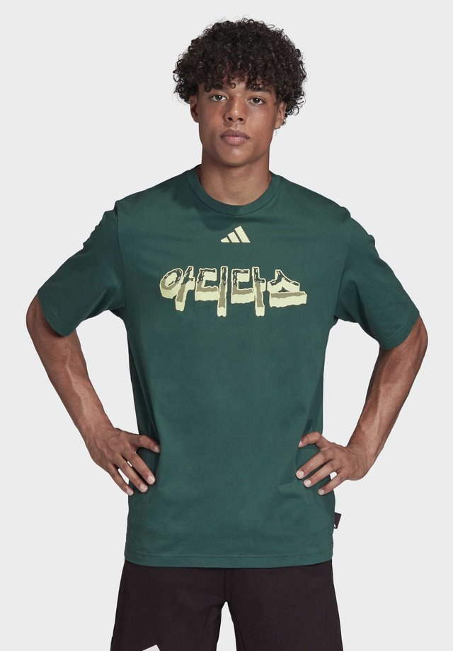 ADIDAS ATHLETICS PACK LANGUAGE T-SHIRT - Print T-shirt - green