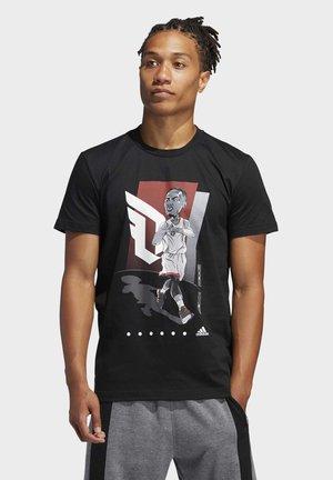 DAME GU TEE - Print T-shirt - black