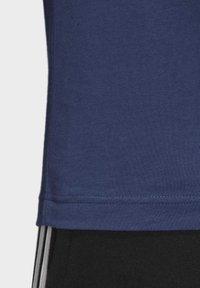adidas Performance - ESSENTIALS LINEAR LOGO T-SHIRT - T-shirts med print - blue - 7
