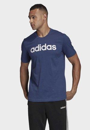 ESSENTIALS LINEAR LOGO T-SHIRT - T-shirt z nadrukiem - blue