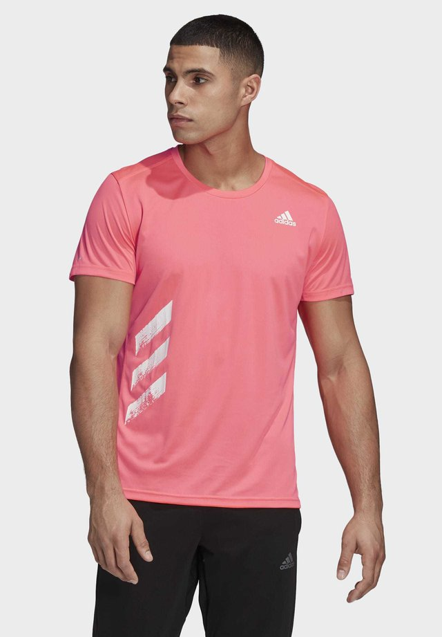 RUN IT 3-STRIPES PB T-SHIRT - T-shirt con stampa - pink