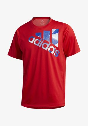 TOKYO BADGE OF SPORT T-SHIRT - T-shirt z nadrukiem - red