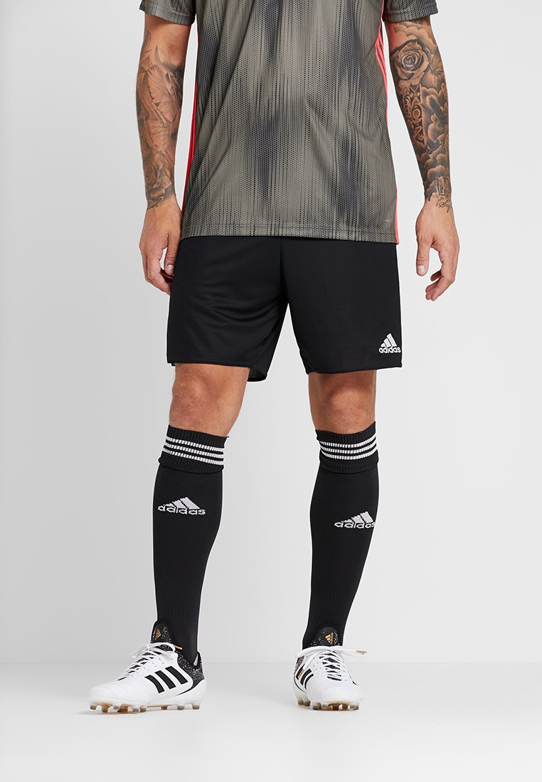 adidas Performance - PARMA PRIMEGREEN FOOTBALL 1/4 SHORTS - Krótkie spodenki sportowe - black/white