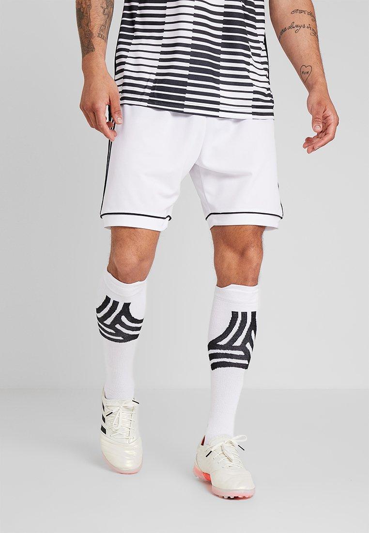 adidas Performance - SQUADRA CLIMALITE FOOTBALL 1/4 SHORTS - Pantalón corto de deporte - white/black
