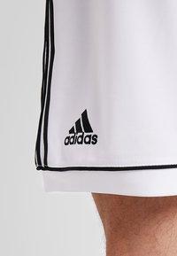 adidas Performance - SQUADRA CLIMALITE FOOTBALL 1/4 SHORTS - Pantalón corto de deporte - white/black - 3