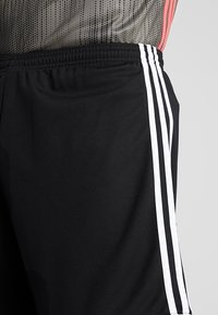 adidas Performance - SQUADRA CLIMALITE FOOTBALL 1/4 SHORTS - Korte broeken - black/white - 5