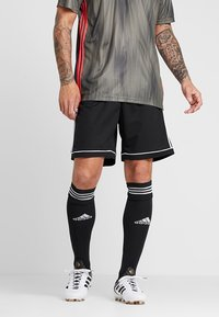 adidas Performance - SQUADRA CLIMALITE FOOTBALL 1/4 SHORTS - Korte broeken - black/white - 0