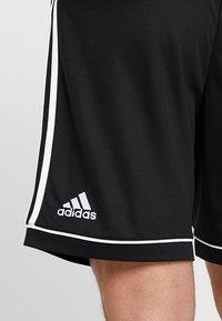 adidas Performance - SQUADRA CLIMALITE FOOTBALL 1/4 SHORTS - Korte broeken - black/white - 3