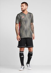 adidas Performance - SQUADRA CLIMALITE FOOTBALL 1/4 SHORTS - Korte broeken - black/white - 1