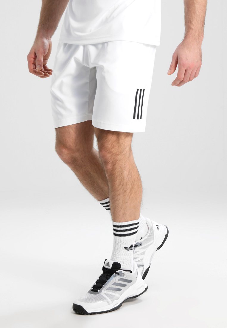 adidas Performance - CLUB SHORT - Korte broeken - white/black