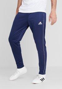 adidas Performance - CORE 18 - Tracksuit bottoms - dark blue/white - 0