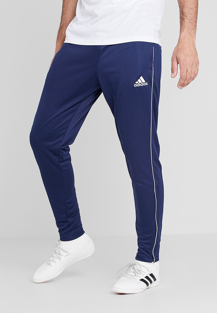 adidas Performance - CORE 18 - Tracksuit bottoms - dark blue/white