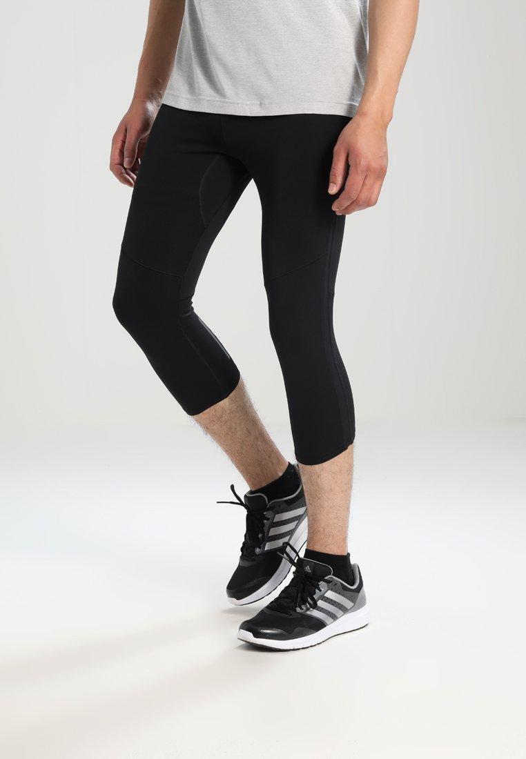 adidas Performance - Pantaloncini 3/4 - black/black