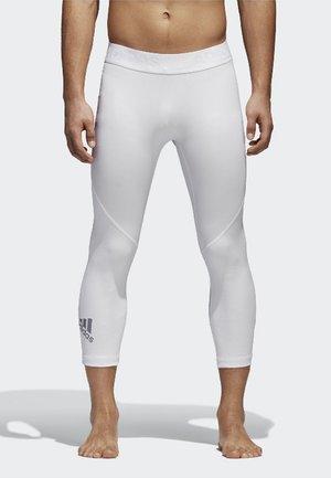 ALPHASKIN SPORT 3/4 TIGHTS - 3/4 Sporthose - white