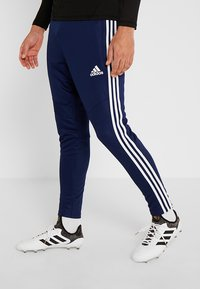 adidas Performance - TIRO AEROREADY CLIMACOOL FOOTBALL PANTS - Tracksuit bottoms - dark blue/white - 0