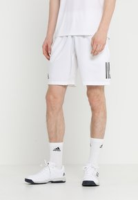 adidas Performance - CLUB SHORT - Pantaloncini sportivi - white/black - 0