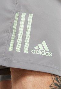 adidas Performance - CLUB SHORT - Sports shorts - grey/glow green - 3