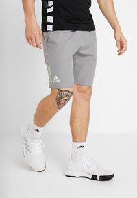 adidas Performance - CLUB SHORT - Sports shorts - grey/glow green - 0