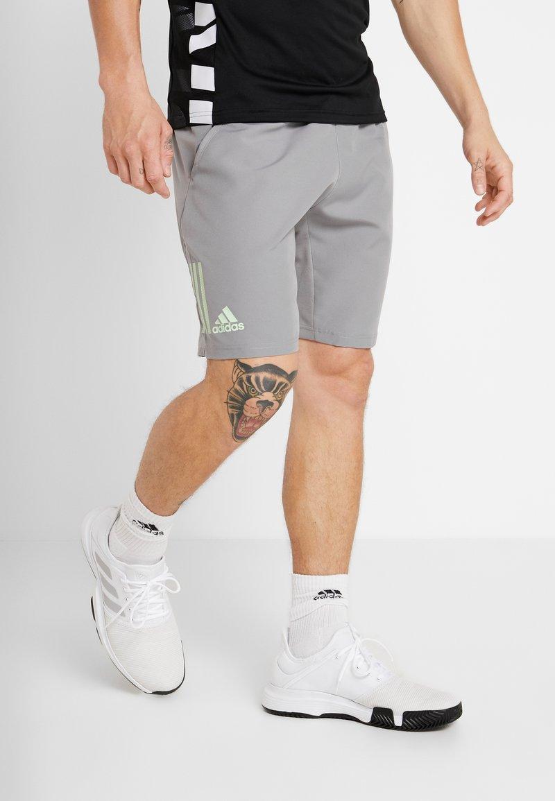 adidas Performance - CLUB SHORT - Sports shorts - grey/glow green