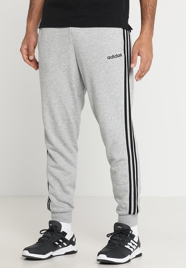 adidas Performance - Tracksuit bottoms - medium grey heather/black/solid grey