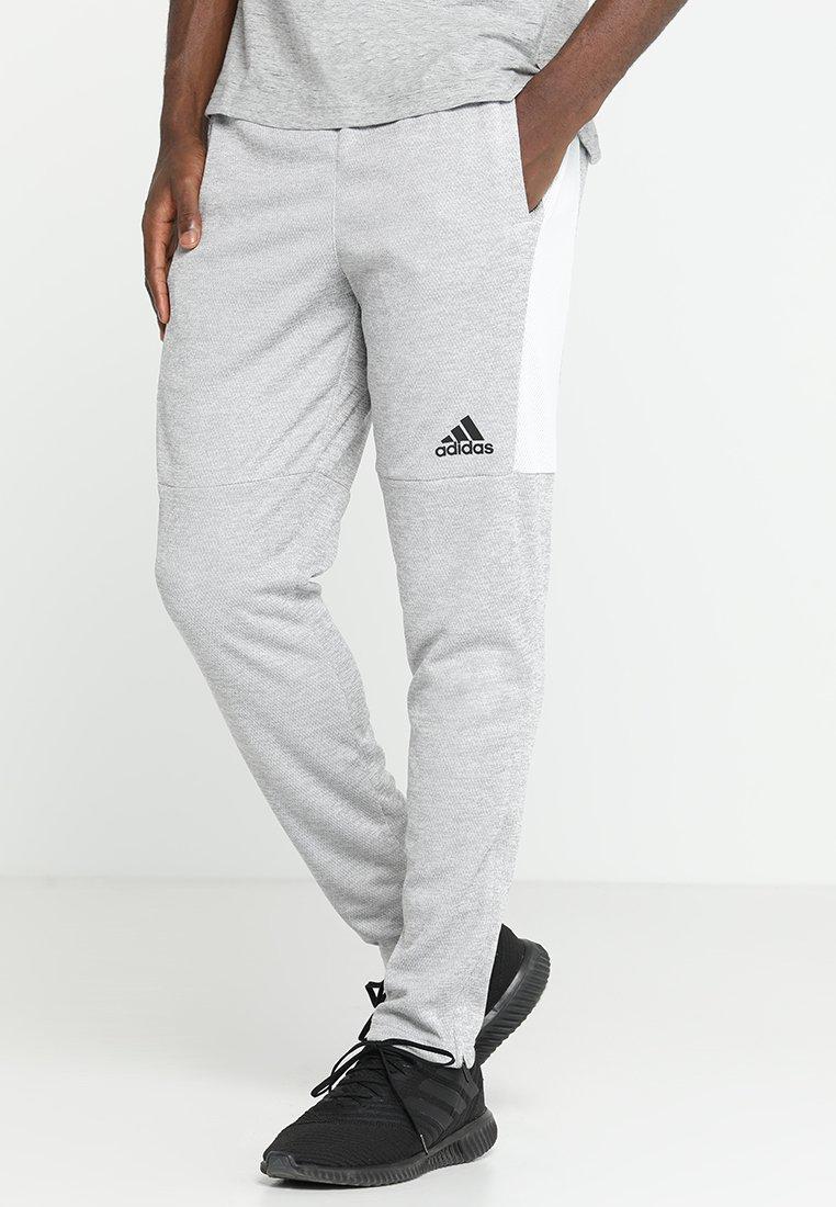 adidas Performance - LITE PANT - Tracksuit bottoms - grey two melange/medium grey heather/solid gray