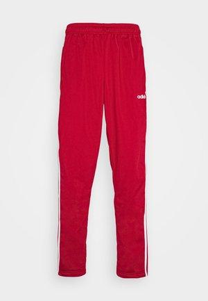 3 STRIPES SPORTS REGULAR PANTS - Spodnie treningowe - scarlett/white