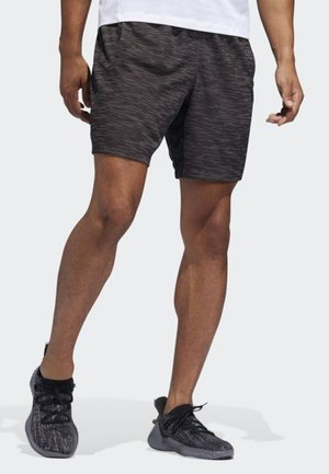 4KRFT Sport Striped Heather Shorts - Träningsshorts - black
