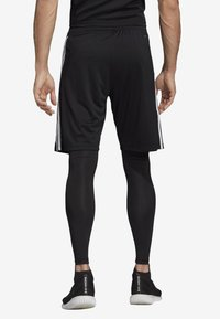 adidas Performance - TIRO 19 TWO-IN-ONE SHORTS - Sports shorts - black/white