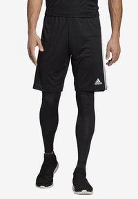 adidas Performance - TIRO 19 TWO-IN-ONE SHORTS - Sports shorts - black/white - 0
