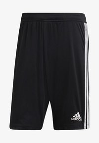adidas Performance - TIRO 19 TWO-IN-ONE SHORTS - Sports shorts - black/white - 6