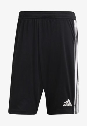 TIRO 19 TWO-IN-ONE SHORTS - Träningsshorts - black/white