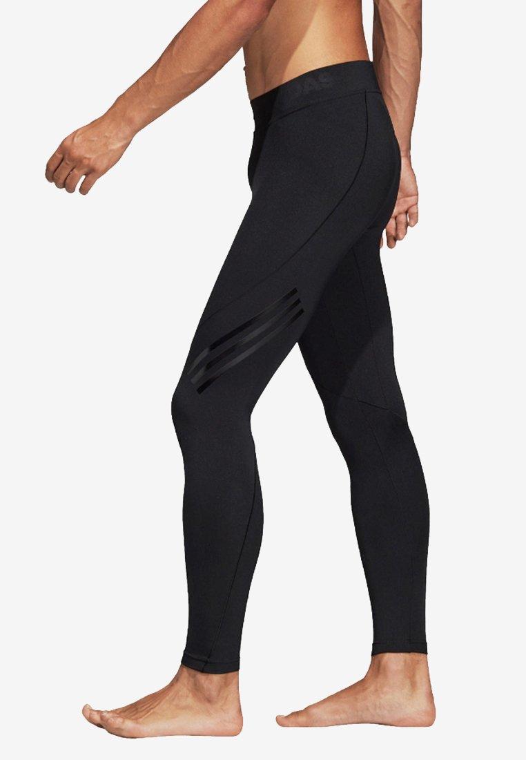 3 Performance Adidas Black Tech Alphaskin TightsCollants Long stripes q43LAj5R