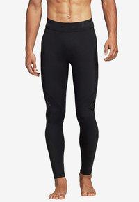 adidas Performance - ALPHASKIN TECH 3-STRIPES LONG TIGHTS - Leggings - black - 0
