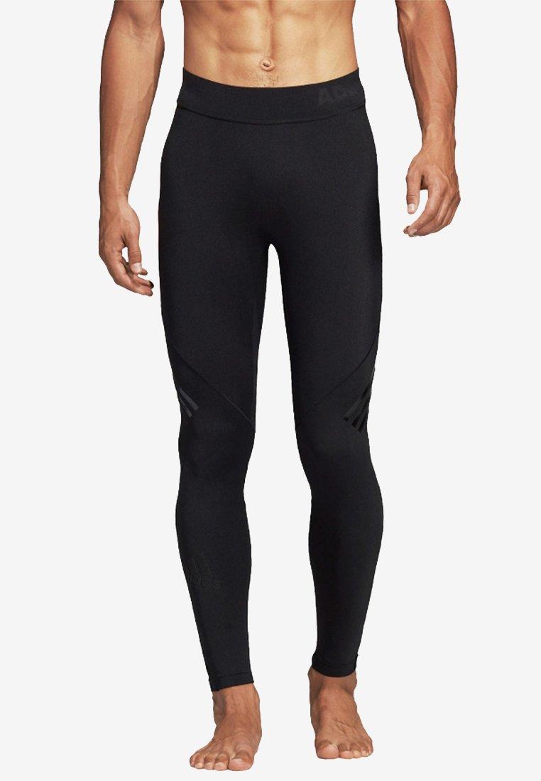 adidas Performance - ALPHASKIN TECH 3-STRIPES LONG TIGHTS - Leggings - black
