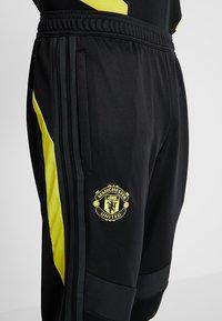 adidas Performance - Manchester United - Teplákové kalhoty - black/solar grey - 3